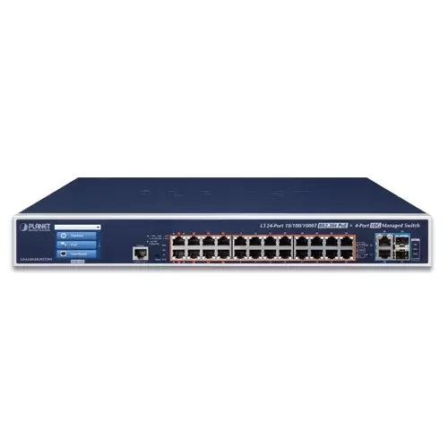 GS-6320-24UP2T2XV PoE Switch Front