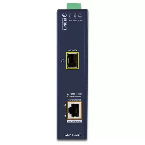 IGUP-805AT PoE Media Converter Front