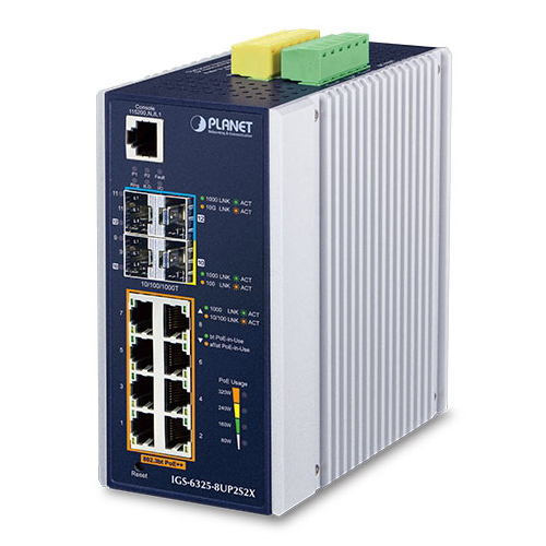 Industrial 8 Port PoE+ plus 2 SFP Ports StarTech.com Gigabit Ethernet Switch IES101GP2SFW Gigabit Switch Managed Switch