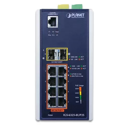 IGS-6325-8UP2S Industrial PoE Switch Front