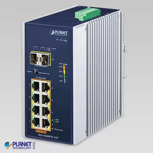 IGS-1020PTF-12V Industrial PoE Switch