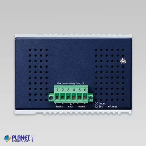 IGS-1020PTF-12V Industrial PoE Switch Top