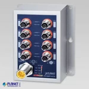 ISW-808PT-M12A Industrial PoE Switch