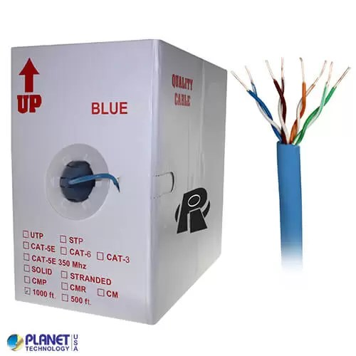 CP-C5E-SDP-BL Bulk Ethernet Cable Blue