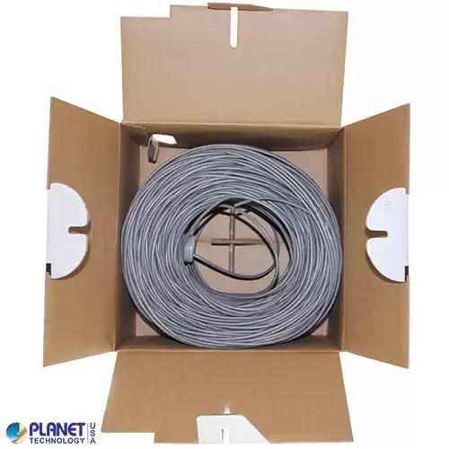 CP-C5E-SDP-GY Bulk Ethernet Cable Gray Open Box