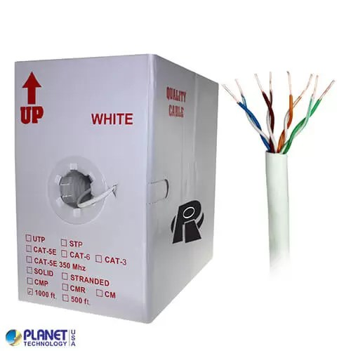 CP-C5E-SDP-WH Bulk Ethernet Cable White