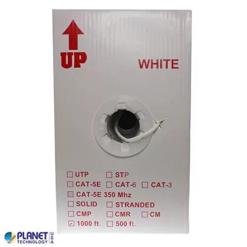 CP-C5E-SDP-WH Bulk Ethernet Cable White Box