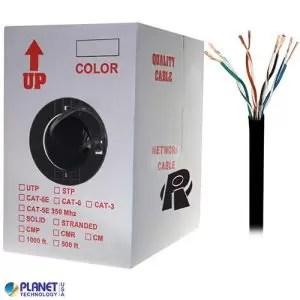 CP-C5E-ST-1K-BK Bulk Ethernet Cable