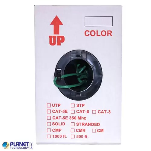 CP-C5E-ST-1K-GN Bulk Ethernet Cable Green Box