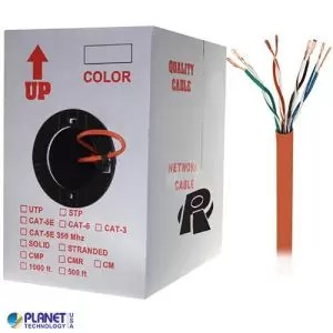 CP-C5E-ST-1K-OR Bulk Ethernet Cable Orange