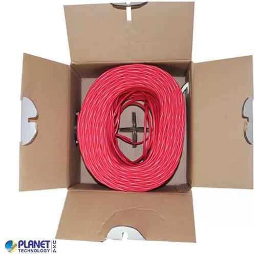 CP-C5E-ST-1K-RD Bulk Ethernet Cable Red Open Box