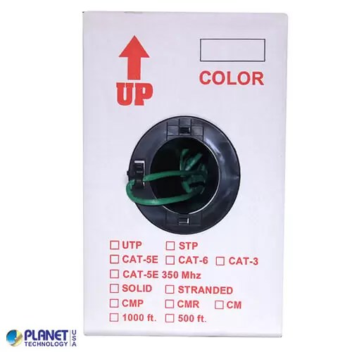 CP-C6-ST-1K-GN Ethernet Cable Green Box
