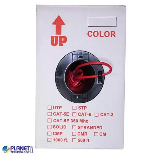 CP-C6-ST-1K-RD Ethernet Cable Red Box