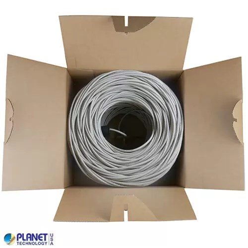 CPE-C6-SD-1K-GY Ethernet Cable Bundle Gray Box Open