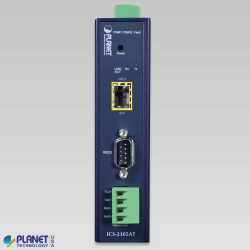 ICS-2105AT Industrial Serial Device Server Front
