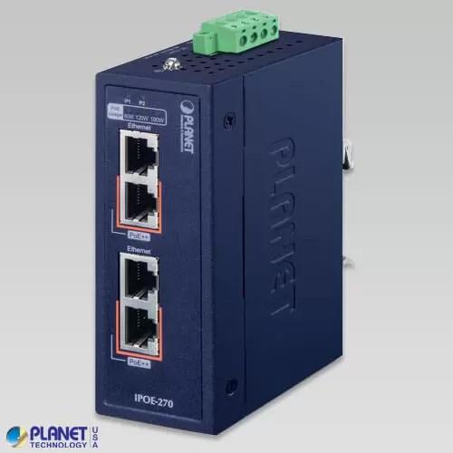 IPOE-270 Industrial PoE Injector