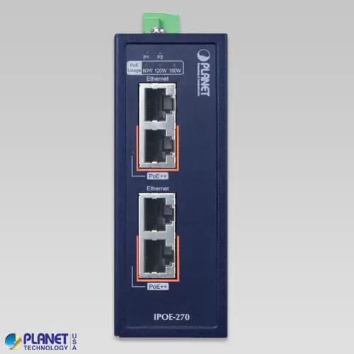 IPOE-270 Industrial PoE Injector Front