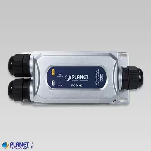 IPOE-165 Industrial PoE Injector Front