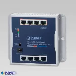 WGS-814HP Industrial Wall-Mount PoE Switch