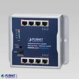 WGS-818HP Industrial 8-Port 10/100/1000T Wall-mounted Gigabit PoE+ Switch