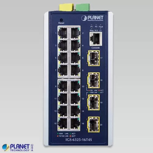 IGS-6325-16T4S Industrial Switch Front