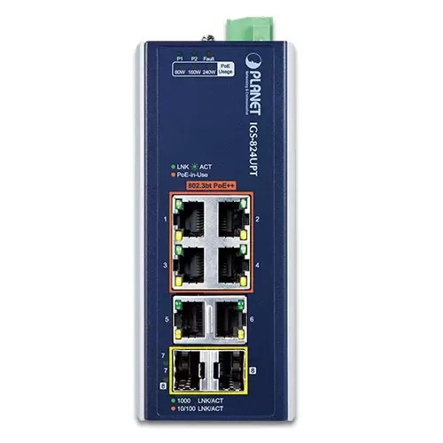 IGS-824UPT PoE Switch Front