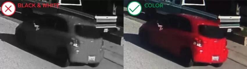 Black & White vs Color Surveillance Image