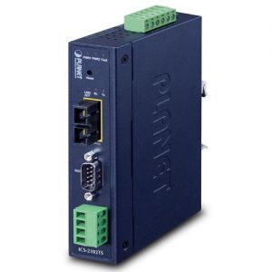 ICS-2102TS IP30 Industrial 1-Port RS232/RS422/RS485 Serial Device Server (1 x 100FX SC, SM/30km, -40~75C)
