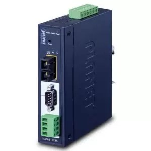 IMG-2102TS IP30 Industrial 1-Port RS232/RS422/RS485 Modbus Gateway (1 x 100FX SC, SM/30km, -40~75C)