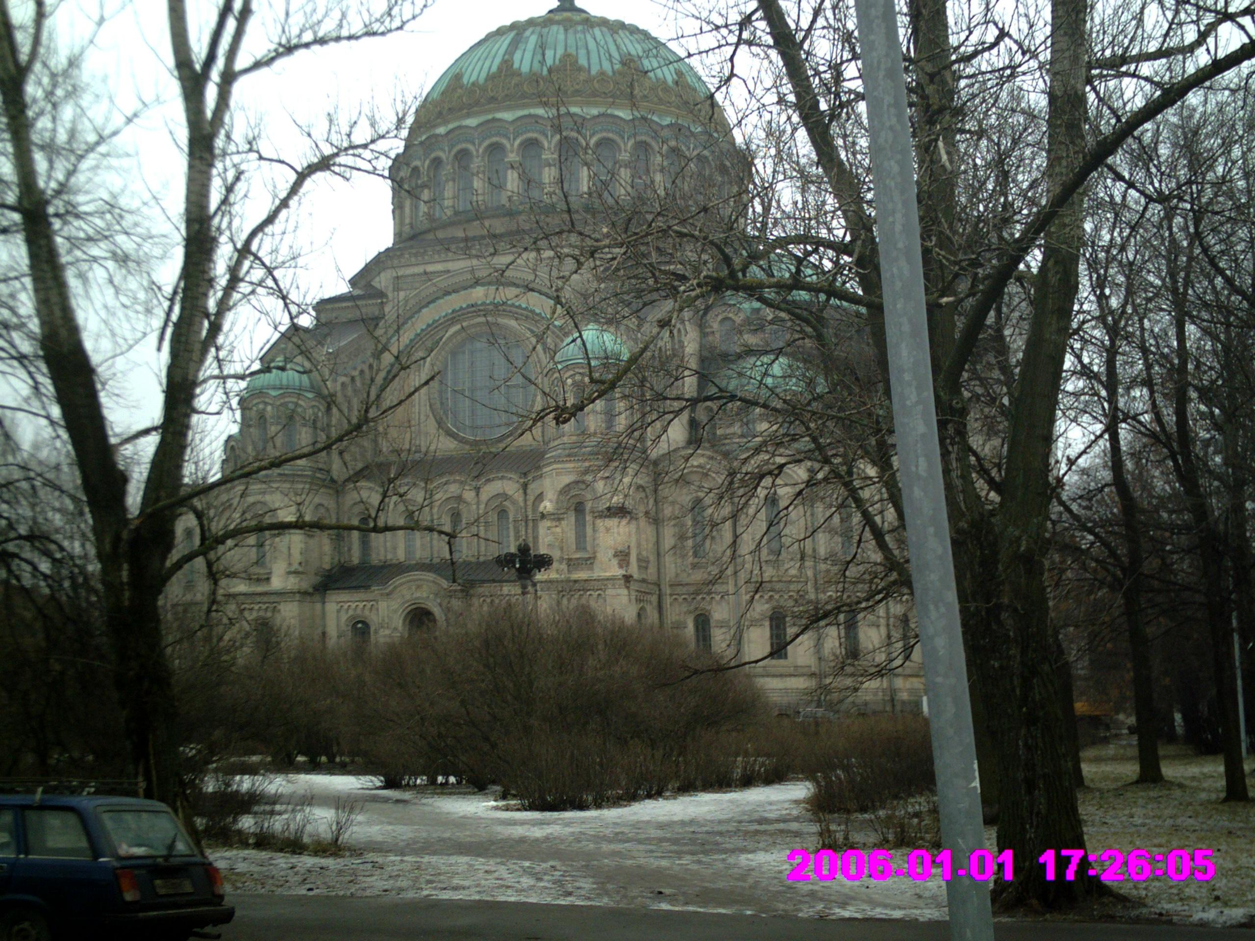 La Cathédrale de Kronstadt en hiver