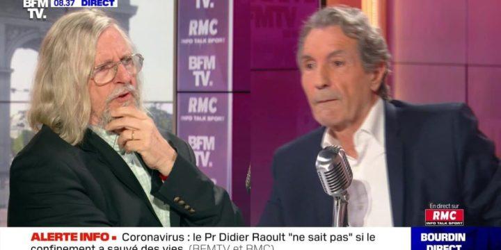 «Je vais me lever et m'en aller» Échange houleux entre Didier Raoult et Jean-Jacques Bourdin en direct