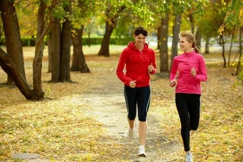 Femmes entrainement course à pied