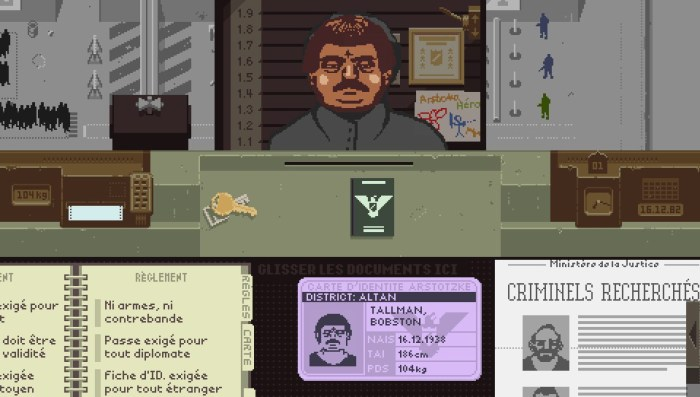 Papers Please PlayStation Plus PS Vita