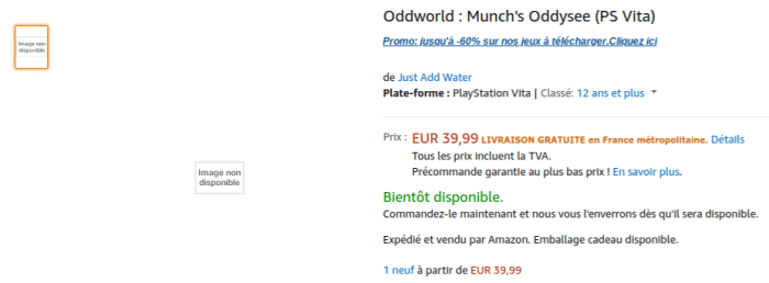 Oddworld: Munch's Oddysee PS Vita sur Amazon Fr