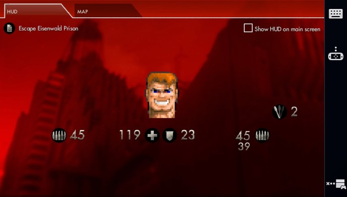 Second écran de Wolfenstein The New Order PS4 sur la PS Vita