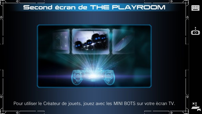 Second écran de The Playroom PS4 sur la PS Vita