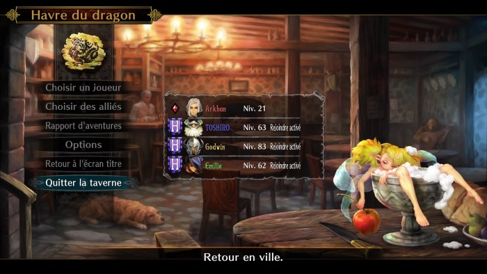 Dragon's Crown - La taverne du Havre du dragon