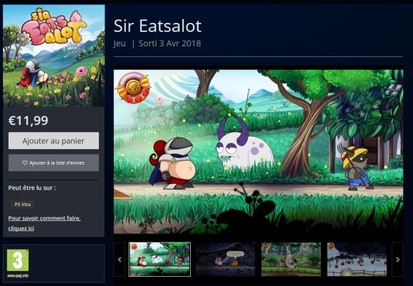 Sir Eatsalot PS Vita PlayStation Store