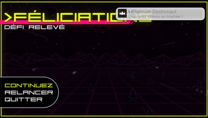 Super Destronaut DX test review EASY PLATINE PS Vita PS4