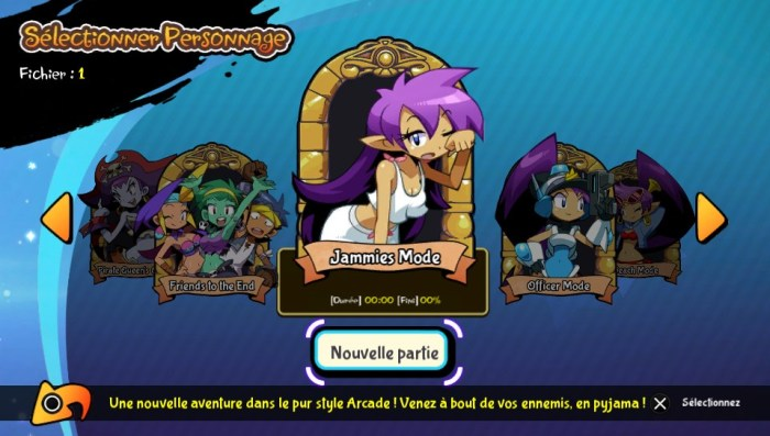 Shantae mode pyjama update PS Vita