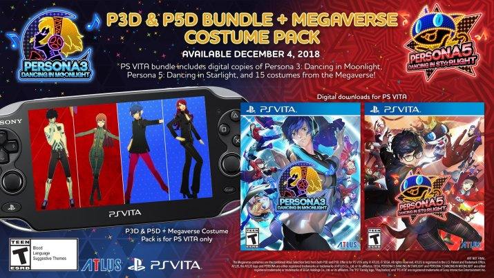 Persona 3 Dancing & Persona 5 Dancing PS Vita Bundle