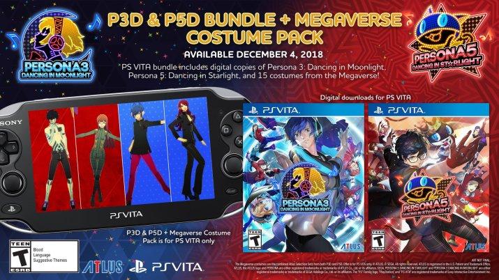 Persona 3 Dancing & Persona 5 Dancing PS Vita Bundle