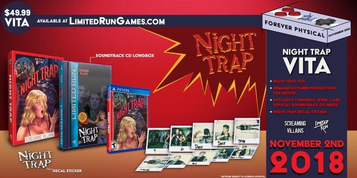 Night Trap Limited Run PS Vita