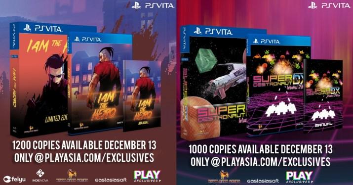 CONCOURS : Super Destronaut DX & I Am The Hero en éditions physiques limitées sur PS Vita