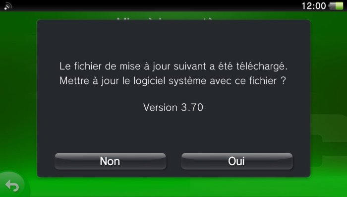 Firmware update 3.70 PS VITA