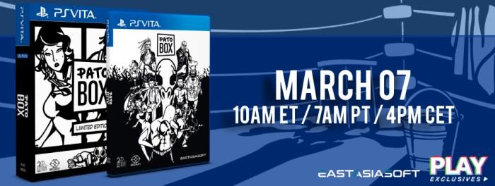 Pato Box édition physique limitée PS Vita