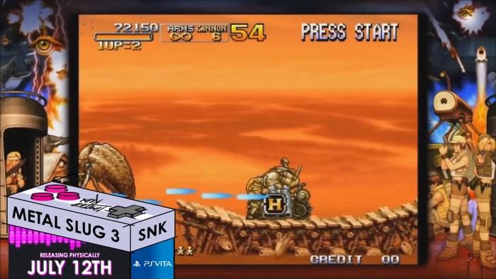 Metal Slug 3 PS Vita Limited Run