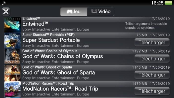 Liste de jeux PSP sur PS Vita