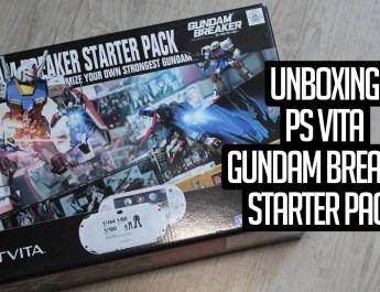 [Unboxing] PlayStation Vita Gundam Breaker Starter Pack Limited Edition