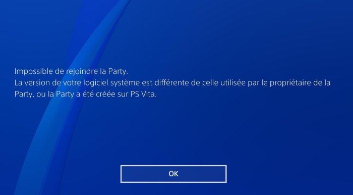 Rejoindre un salon Party PS Vita depuis la PS4